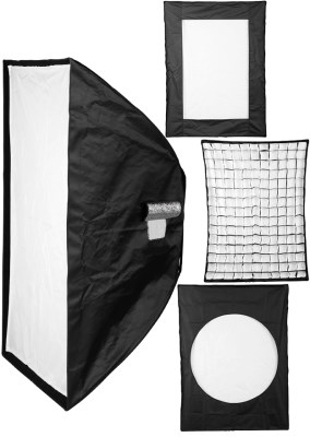 Softbox 60x85 cm + honneycomb gird + strip and ring masks 0