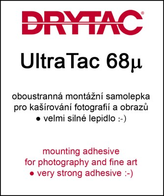 130cm x 50m UltraTac 68µ -mounting adhesive for the outdoor 0