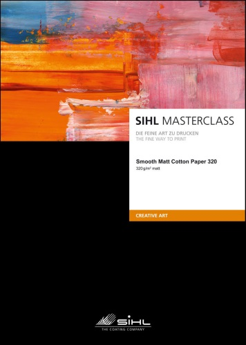 A3+/25 SIHL MASTERCLASS Smooth Matt Cotton Paper 320 (4852)