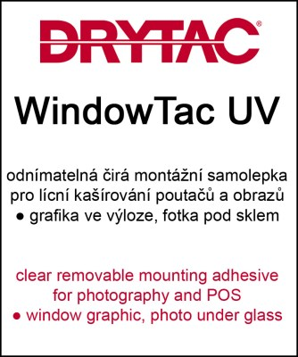 WindowTac 104cm x 50m - removable facemount film 0