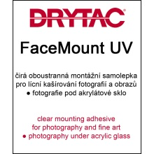130cm x 50m Drytac FaceMount UV 75µ - clear mounting adhesive