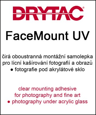130cm x 50m Drytac FaceMount UV 75µ - clear mounting adhesive 0