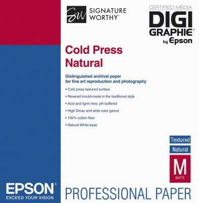 Epson Cold Press Natural A3+ (32,9 x 48,3cm)/25, C13S042300 0
