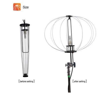 Light Baloon 4000/8000 W/3200 K 16