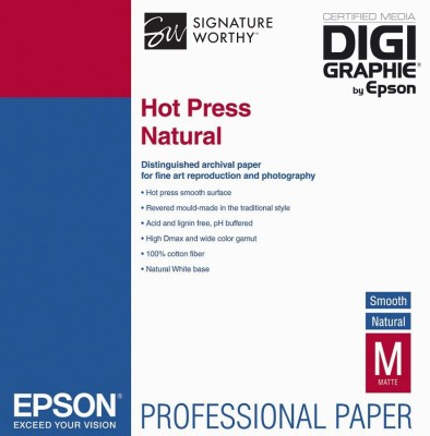 Epson Hot Press Natural A3+ (32,9 x 48,3cm)/25, C13S042320 0