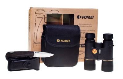 10x42 FOMEI DIPLOMAT  + hunting knife Mikov, gift box 0