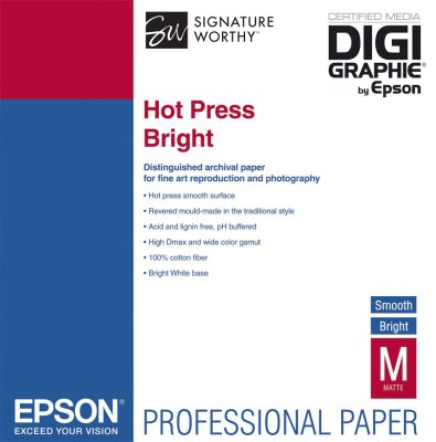 Epson Hot Press Bright A3+ (32,9 x 48,3cm)/25, C13S042330 0