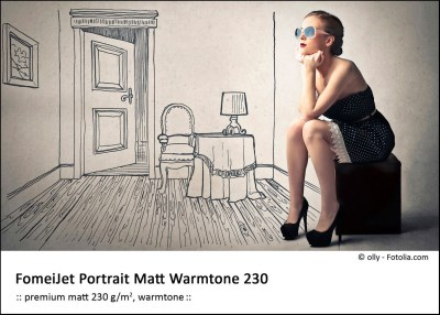 A4/50 FomeiJet Portrait Matt Warmtone 230 0