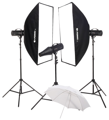 Digital Pro X/500/500/500, kit of studio flashes