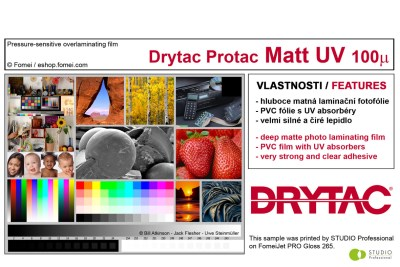 Sample book of Drytac Protac overlaminating films (6 medias) 0