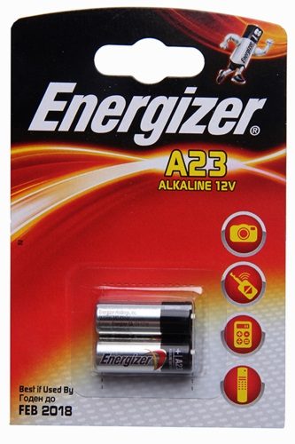 Alkaline battery A23, 12 V, 2 pcs