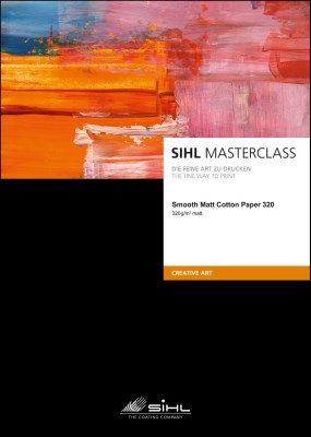 A4/25 SIHL MASTERCLASS Smooth Matt Cotton Paper 320 (4852) 0