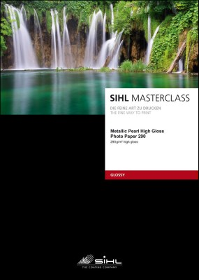 A4/25 SIHL MASTERCLASS Metallic Pearl High Gloss Photo Paper 290 (4840) 0