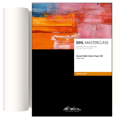 43,2cm x 12m SIHL MASTERCLASS Smooth Matt Cotton Paper 320 (4852) 0