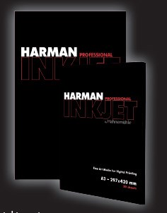 A5 printed swatchbook of HARMAN by Hahnemühle (7 medias) 0