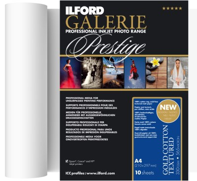 111,8cm x 15m Ilford GALERIE Prestige Gold Cotton Textured 330 (GPGCT) 0