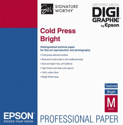 Epson Cold Press Bright A3+ (32,9 x 48,3cm)/25, C13S042310 0